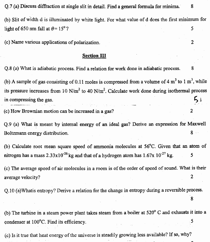 Physics Group 2 BA Part 1 Past Papers 2019 page 2