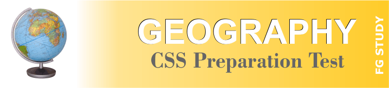 CSS Geography Papers MCQS Online Test