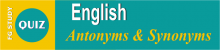 English Antonyms & Synonyms MCQS Online Test Image By FG STUDY